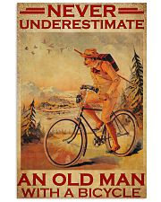 Cycling never old man poster 24x36 Poster front