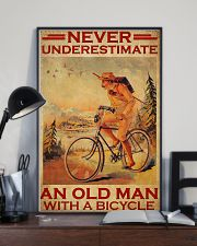 Cycling never old man poster 24x36 Poster lifestyle-poster-2