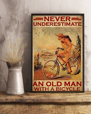 Cycling never old man poster 24x36 Poster lifestyle-poster-3