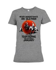 1 team roping never Premium Fit Ladies Tee tile