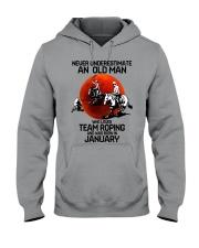 1 team roping never Hooded Sweatshirt tile