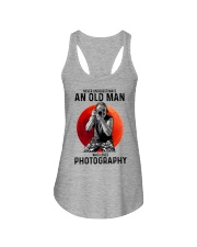 photography never old man Ladies Flowy Tank tile