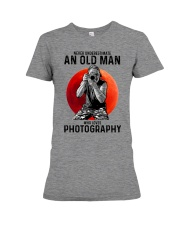 photography never old man Premium Fit Ladies Tee tile