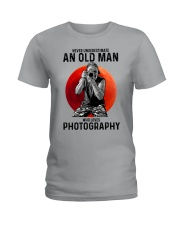 photography never old man Ladies T-Shirt tile
