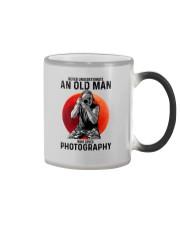photography never old man Color Changing Mug tile