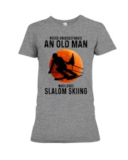 Slalom skiing Premium Fit Ladies Tee tile