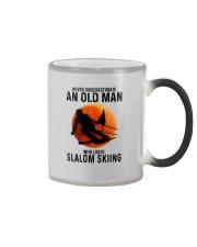 Slalom skiing Color Changing Mug tile