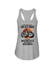 Motorcycle never 11 Ladies Flowy Tank tile