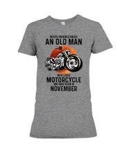 Motorcycle never 11 Premium Fit Ladies Tee tile