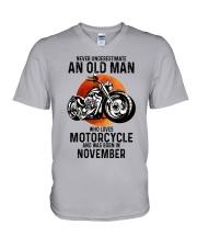 Motorcycle never 11 V-Neck T-Shirt tile