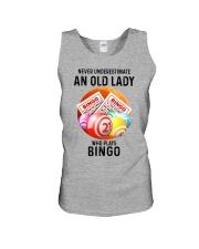 bingo old lady Unisex Tank tile