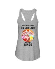 bingo old lady Ladies Flowy Tank tile