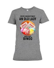 bingo old lady Premium Fit Ladies Tee tile