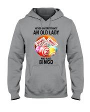 bingo old lady Hooded Sweatshirt tile