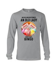 bingo old lady Long Sleeve Tee tile