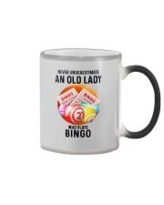 bingo old lady Color Changing Mug tile