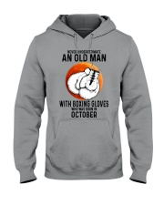 10 boxing old man Hooded Sweatshirt tile