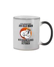 10 boxing old man Color Changing Mug tile