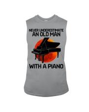 06 hat piano old man Sleeveless Tee tile