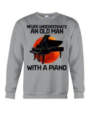 06 hat piano old man Crewneck Sweatshirt tile