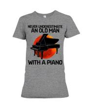 06 hat piano old man Premium Fit Ladies Tee tile