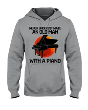 06 hat piano old man Hooded Sweatshirt tile