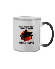 06 hat piano old man Color Changing Mug tile