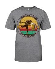i like beer lacrosse Classic T-Shirt tile