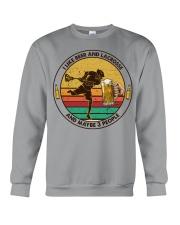 i like beer lacrosse Crewneck Sweatshirt tile
