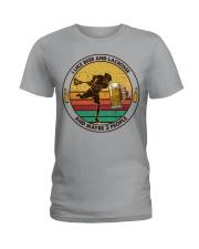 i like beer lacrosse Ladies T-Shirt tile