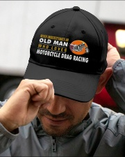 hat motorcycle drag racing old man Embroidered Hat garment-embroidery-hat-lifestyle-01