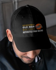 hat motorcycle drag racing old man Embroidered Hat garment-embroidery-hat-lifestyle-02