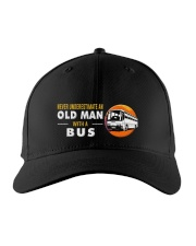 hat bus old man Embroidered Hat front