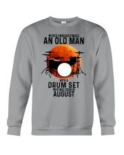08 drum set never old man Crewneck Sweatshirt tile
