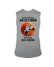 bull riding old man never Sleeveless Tee tile