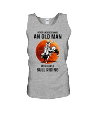 bull riding old man never Unisex Tank tile