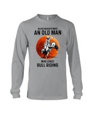 bull riding old man never Long Sleeve Tee tile