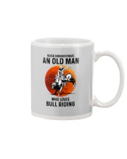 bull riding old man never Mug tile
