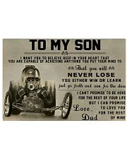 Drag Racing To My Son 36x24 Poster front