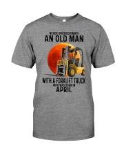 04 forklift truck old man color Premium Fit Mens Tee tile