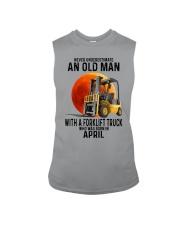 04 forklift truck old man color Sleeveless Tee tile