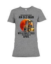 04 forklift truck old man color Premium Fit Ladies Tee tile
