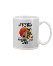 04 forklift truck old man color Mug tile