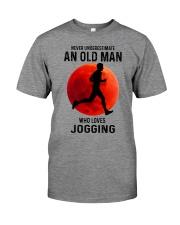 jogging old man never Premium Fit Mens Tee tile