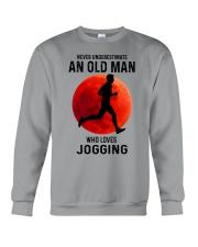 jogging old man never Crewneck Sweatshirt tile