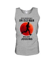 jogging old man never Unisex Tank tile