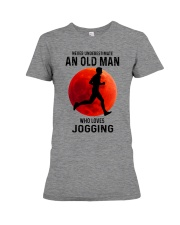 jogging old man never Premium Fit Ladies Tee tile