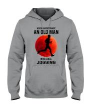 jogging old man never Hooded Sweatshirt tile