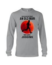 jogging old man never Long Sleeve Tee tile
