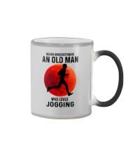 jogging old man never Color Changing Mug tile